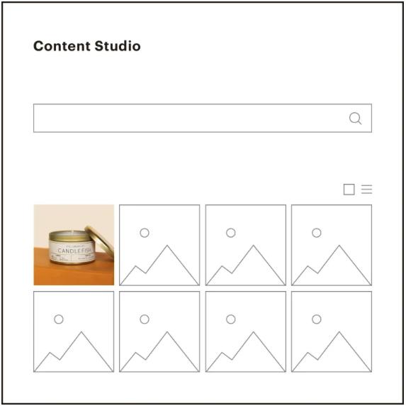 Mailchimp content studio