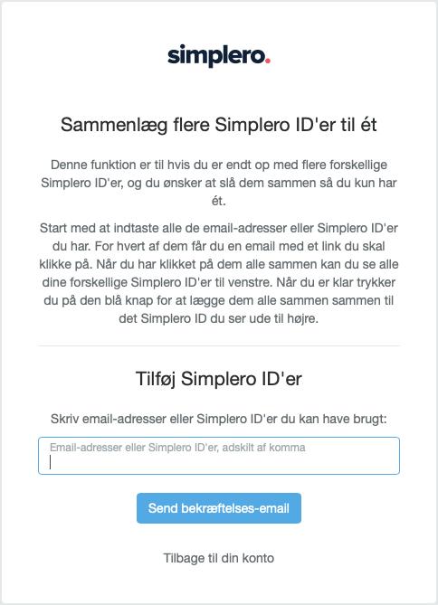 Sammenlæg flere Simplero ID'er til ét